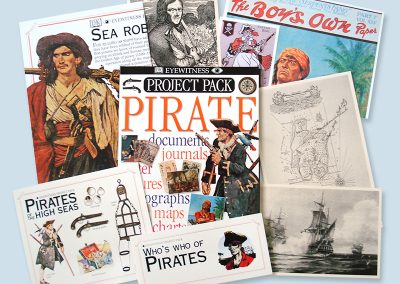 Dorling Kindersley Pirate Project Pack design
