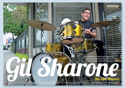 Rhythm magazine Gil Sharone
