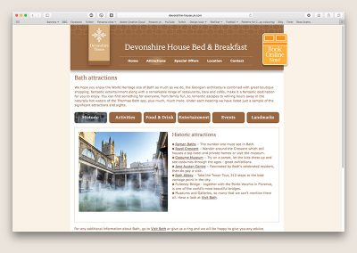 Devonshire House website attractions page
