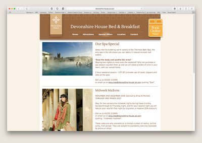 Devonshire House website special offers page