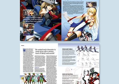Anime BlazBlue magazine spread