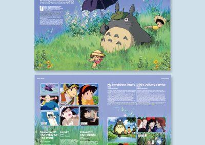 Studio Ghibli magazine spread