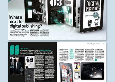 Computer Arts magazine spread design