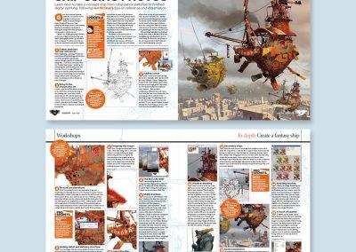 ImagineFX magazine spread design