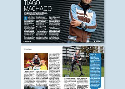 Procycling magazine spread design