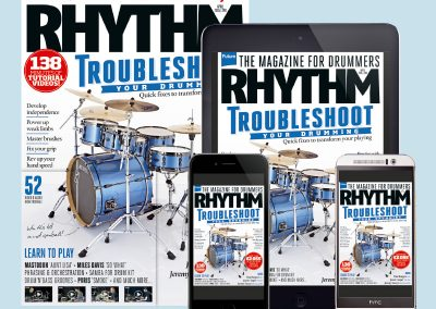 Rhythm drum magazine print and digital editions