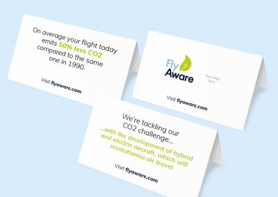 IATA Flyaware small tentcard