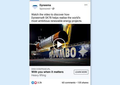 Dyneema Facebook ad